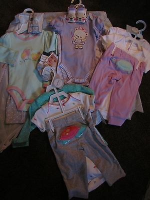 New Carters & More Infant Girls 13PC Set Outfits Sz 6 Months $92 Retail