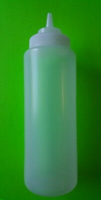 1 PC Clear Wide Mouth Squeeze Bottle 32oz. Restaurant Grade.