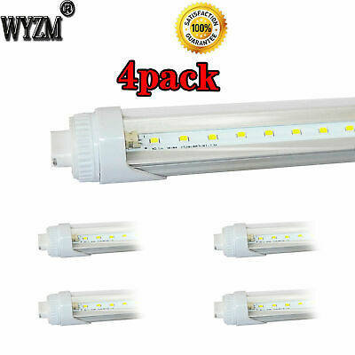 4-Pack 40W 8ft LED Tube (R17d) Base T12 LED Tube Light,Replaces for F96T12/CW/HO
