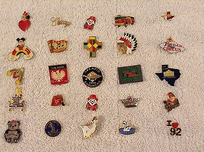 LOT of 25PCS Different Lapel Pins Masonic/Shriner/Other