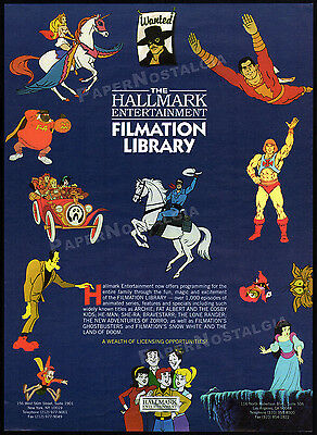FILMATION__Original 1995 Trade Print AD promo__GHOSTBUSTERS__ARCHIE__LONE RANGER