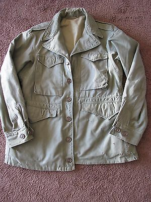 WW2 M-1943 FIELD JACKET m 1943  Named MAJOR  Rare  36R Collectible