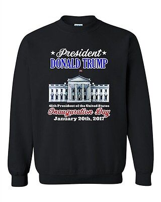 Donald Trump White House Inauguration Day 45th President DT Crewneck Sweatshirt