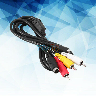 AV A/V TV Audio Video Adapter Cable Wire GW For Sony Camcorder DCR-SR42 HDR-CX7