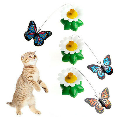 1Pc Funny Pet Cat Kitten Toys Electric Rotating Butterfly Rod Cat Play Toy