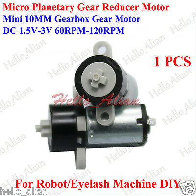 Mini DC 1.5V 3V 60RPM-120RPM 10MM Planetary Gearbox Gear Reducer Motor for Robot