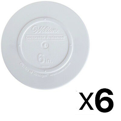 Wilton Decorator Preferred Smooth Edge Plate 6 Inch White (6-Pack)