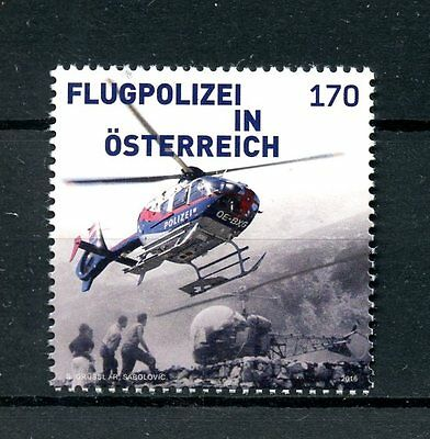 Austria 2016 MNH Air Police 1v Set Helicopters Aviation Stamps