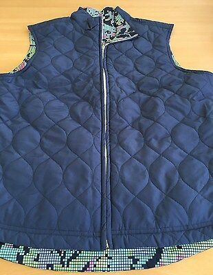 Ladies Golfing Greg Norman Reversable Gilet Navy/Multi Size S