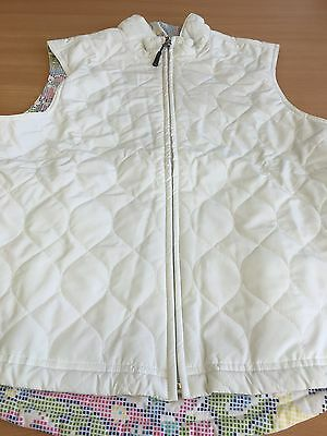 Ladies Golfing Greg Norman Reversable Gilet Cream/Multi Size S