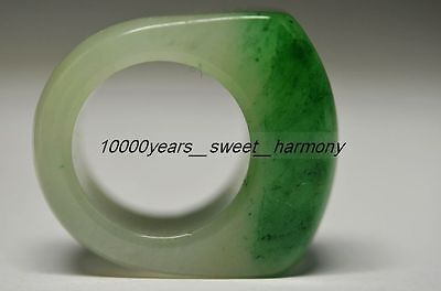Delicate Chinese Natural Emerald Big Ring Superior Quality   G25