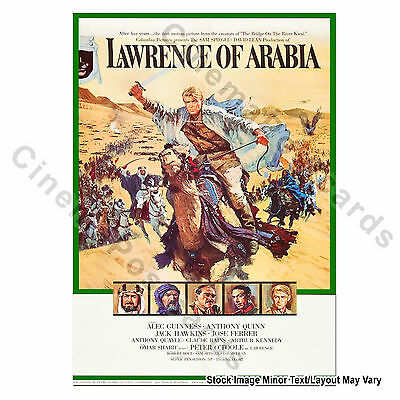 OFFICIAL T.E. Lawrence of Arabia 1/s Film Poster David Lean Peter O'Toole