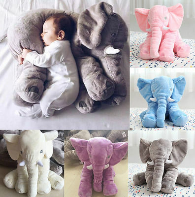 Kids Long Nose Elephant Doll Soft Plush Stuff Toys Lumbar Pillow Baby Children