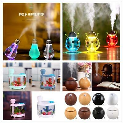Aromatherapy Aroma Ultrasonic Diffuser Air Purifier Essential Oil USB 4 Patterns