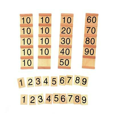 MONTESSORI Insert Wood Board Number Counting Tool Kids Mathmatical Toy
