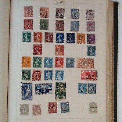 Collection of old stamps from France