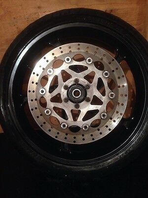 Aprilia RS 125R front wheel with disc And Tyre