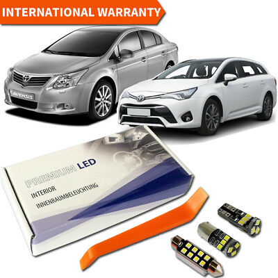 Toyota Avensis T27 Full LED Interior Premium Kit 9 SMD Bulbs White Error Free