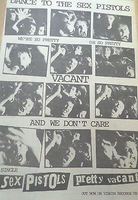 """The Sex Pistols """"pretty Vacant """" Advert From 1977"""