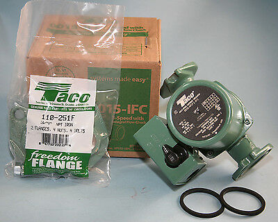 "Taco 0015 IFC 3 spd circulator replaces 00R with 3/4"" Flanges"