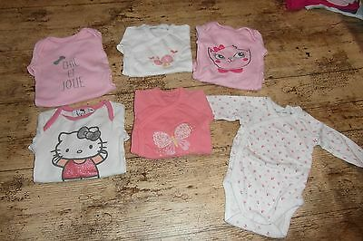 lot 6 body fille 3 mois manches longues