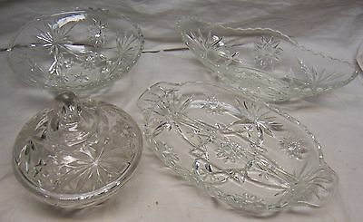 Vintage Set Of Eapc Serving Dishes - Early American Prescut By Anchor Hocking