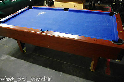 7 FOOT POOL SNOOKER BILLIARD TABLE - TIMBER - BLUE - 7ft - PICK UP PENRITH NSW