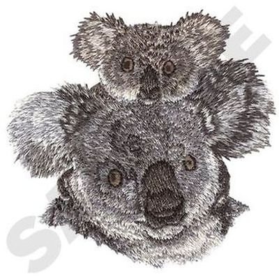 """Koala Mom & Baby Embroidered Patch 3.5"""" x 3.4"""""""