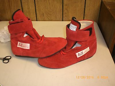 Rjs Racing Equipment Sfi 3.3/5 Racing Shoes Solid Mid Top Red Adult Size 7