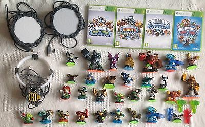 Very Large Skylanders Bundle | 4 Games Xbox 360 | 3 Portals | 30+ Figures
