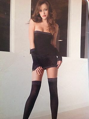 Music Legs Lingerie 3 Piece Black Mesh Tube Dress, Arm Bands & Stockings Size: S