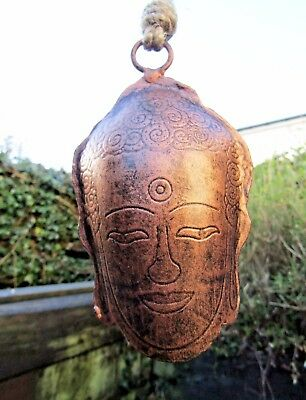 FairTrade Hand Made Carved Metal Thai Buddha Bell Windchime Wind Chime Mobile