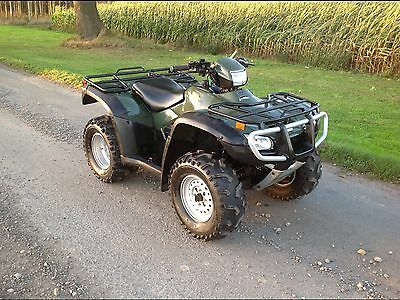 Honda trx500 FM 4x4 Farm quad ATV Green
