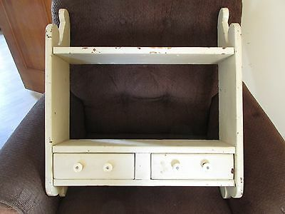 Wall Shelf Cupboard Vintage Old Home Hand Crafted Country Primitive