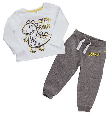 Baby Boy Tshirt and Joggers Set Dinosaur Design  3-6Mm To 18-24M