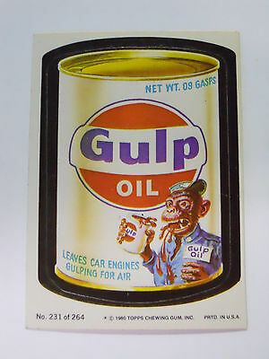 VINTAGE! 1980 Topps Wacky Packages Trading Card #231-Gulp Oil-Gulf