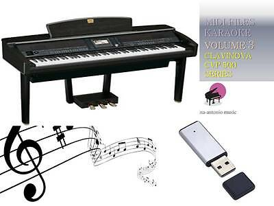 MIDI File Karaoke USB stick for CLAVINOVA CVP 500 600 SERIES Vol 3 NEW