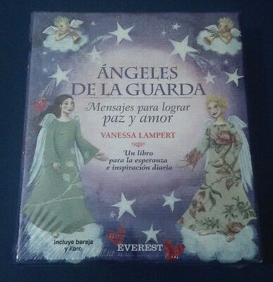 ANGELES DE LA GUARDA_MENSAJES PARA LOGRAR PAZ Y AMOR_ 48 Cartas+Libro_New Sealed