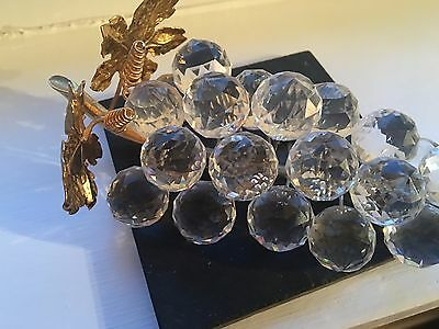 """Swarvoski Large Crystal Glass Grapes  From The """"sparkling Fruit Collection"""