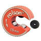 15mm Copper Pipe Tube Cutter Self-Locking Rolson Rotary & Spare Cutter