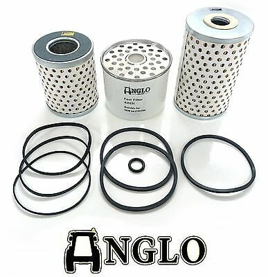 Oil and Fuel Filter Kit Set - Massey Ferguson 35 MF Tractor 3Cyl Perkins Diesel