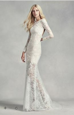 New Never Worn Price Reduced Vera Wang Long Sleeve Wedding Dress