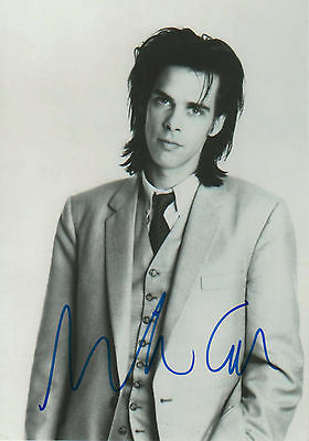 Nick Cave signed 8x12 inch photo autograph