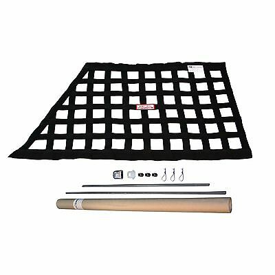Off Road Sfi 27.1 Oblong Ribbon Safety Window Net With Hardware Kit Black