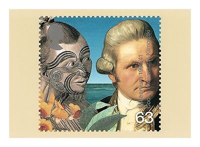 Captain James Cook Explorer & New Zealand Maori With A Face Tattoo Phq 204 Card
