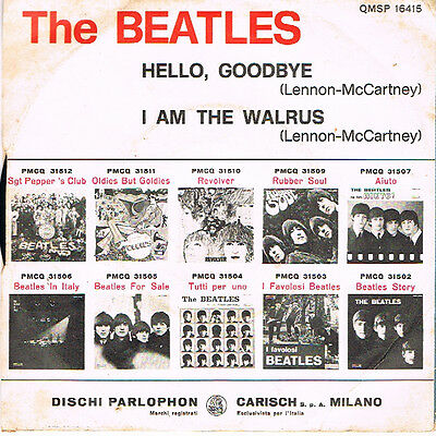 "7""ps - The Beatles - ""hello, Goodbye"""