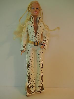 1999 Brittney Spears Doll in Elvis Las Vegas Outfit, Hand Mike