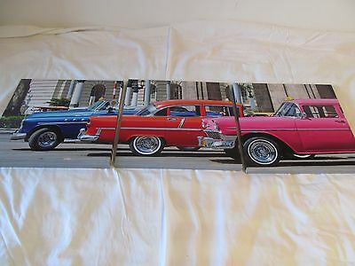 Set of canvas american car pictures