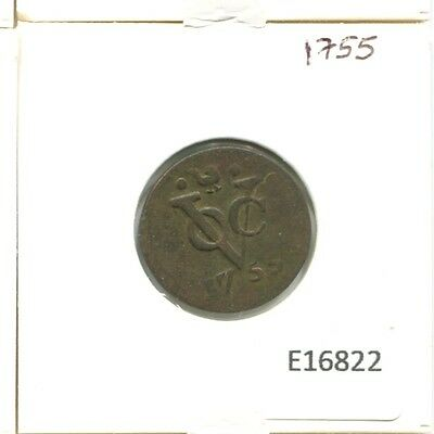1755 West Friesland Voc Duit Netherlands Indies New York Colonial Penny E16822.7