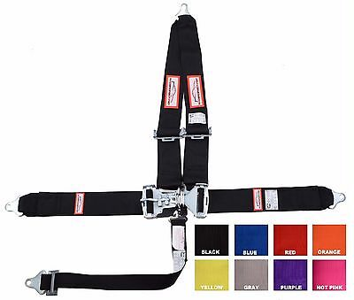 """Sfi 16.1 Racing Harness 5 Point V Roll Bar Mount 3"""" Latch Any Color Made In Usa"""